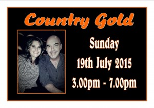 Sunday 19th July – Entertainment by Country Gold