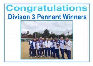 Division 3 Pennant Winners